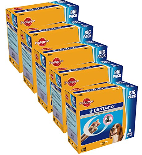 Dentastix Treats for Medium Dogs 56pack x 5 (280 Sticks) by Pedigree