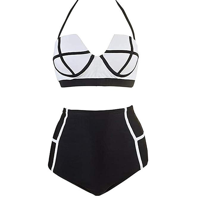 7539487ca490 UOMOGO Bikini Donna Push Up Due Pezzi Costume da Bagno con Alta Vita Design  Stampa Slip Eleganti Cerimonia Colorati Estate Mare Spiaggia Piscina estive  Sexy ...