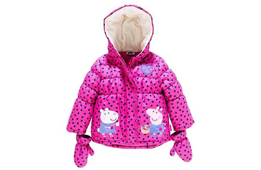 778d75d50 Peppa Pig Girls  Puffer Coat With Mittens - 18-24 Months  Amazon.co ...