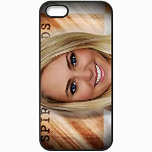 Personalized iPhone 5 5S Cell phone Case/Cover Skin Annasophia robb smile face blonde eyes Actress Black