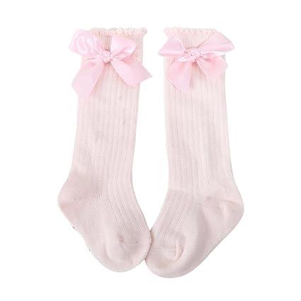 Calcetines de bebé, ❤️Amlaiworld Nuevos niños pequeños niñas bebé arco rodilla alta calcetines de