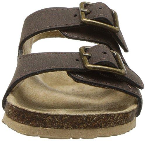 Large Product Image of The Children's Place Boys' TB DBL Bckl Scou Flat Sandal, Brown, TDDLR 7 Medium US Big Kid