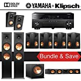 Klipsch RP-280F 7.1.2-Ch Reference Premiere Dolby Atmos Home Theater System with Yamaha AVENTAGE RX-A870BL 7.2-Channel Network AV Receiver