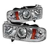 Spyder Auto (PRO-YD-DR99-SP-CCFL-C) Dodge RAM Sport Chrome Halo Projector Headlight with Replaceable LEDs