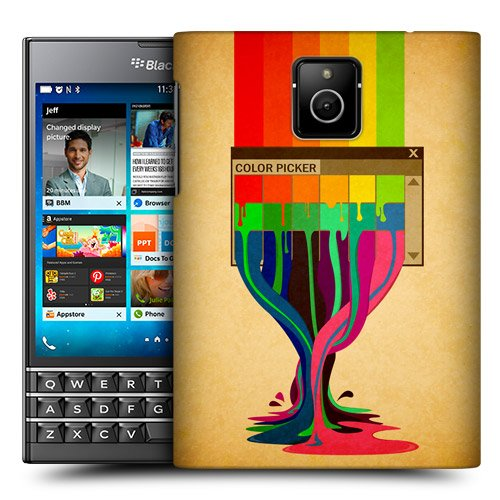 Head Case Designs Colour Picker Colour Drips Protective Snap-on Hard Back Case Cover for BlackBerry Passport