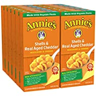 Annie's Shells & Aged Cheddar Macaroni and Cheese, Mac and Cheese (Pack of 12)