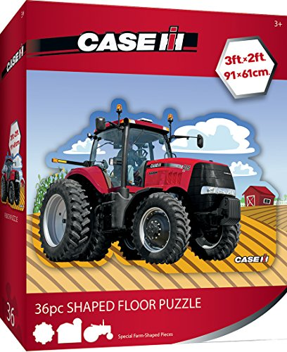 (MasterPieces Case IH Red Tractor - 36 Piece Kids Shaped Floor Puzzle)