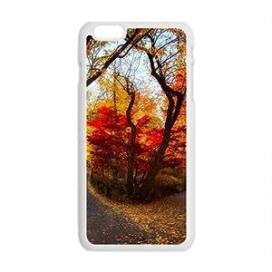 Beautiful Autumn Scenery White Phone Case for Iphone6 Plus wangjiang maoyi