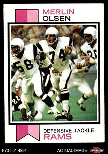 - 1973 Topps # 479 Merlin Olsen Los Angeles Rams (Football Card) Dean's Cards 5 - EX Rams