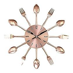 Benzara Metal Copper Wall Clock 15 D, Black
