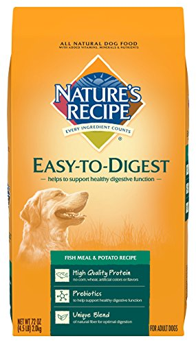 Digest Fish Meal (Nature's Recipe Easy to Digest Dry Dog Food, Fish Meal & Potato Recipe, 4.5-Pound)