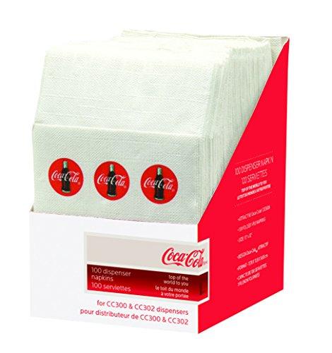 Tablecraft CC326 Coca-Cola Napkins , Half, Red