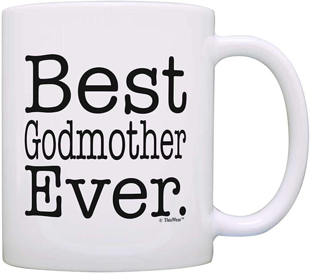 Regalos de la madrina El mejor regalo de bautizo de la madrina Taza de café del regalo del bautismo
