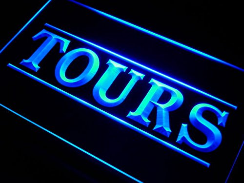 A graphic of the word tours