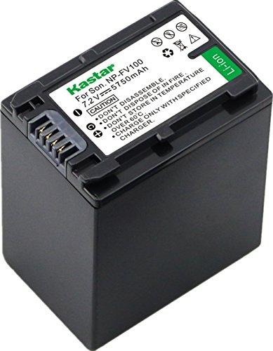 Kastar NP-FV100 Battery 1-Pack For Sony NP-FH100 NP-FV100 NP-FH90 FH70 FH60 TRV and Sony DCR-DVD405 407E 408 410E 450 602E 610 650E DCR-HC96 DCR-SR85 HDR-HC9 HDR-UX20 HDR-SR12 DCR-SR65E XR500E Camera by Kastar