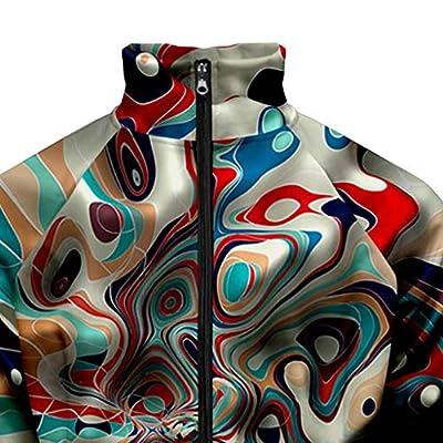 WINJUD Mens Jacket Autumn 3D Print Coat HoodedZip Up Casual Sportswear TrenchCoat: Clothing