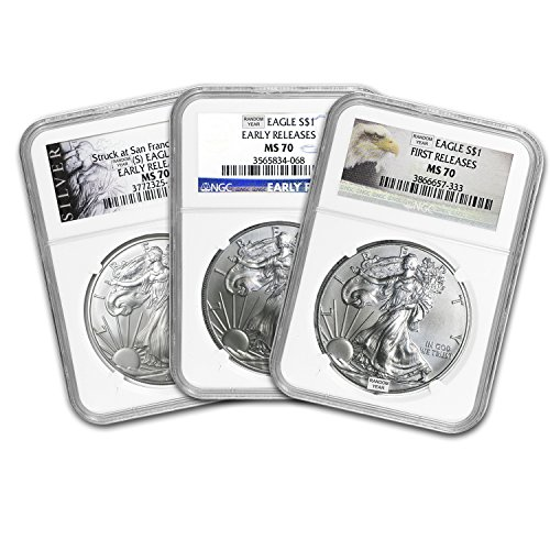 1986-2015 Silver American Eagle MS-70 NGC (Random Year) 1 OZ MS-70 NGC