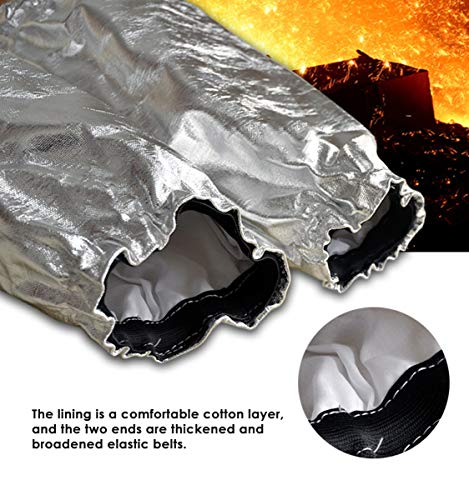 Aluminized Heat Resistant Welding Arm Sleeves Radiation Resistant Elastic Cuff Safety Work Protection Arm Guard by CPTDCL (Image #2)