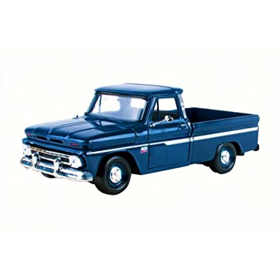 1966 Chevy C10 Fleetside Pickup Truck, Dark Blue - Motormax 73355 - 1/24 Scale Diecast Model Toy Car: Toys & Games