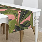 Table Runner - Botanical Duchess Coral Palm Leaves - Best Reviews Guide