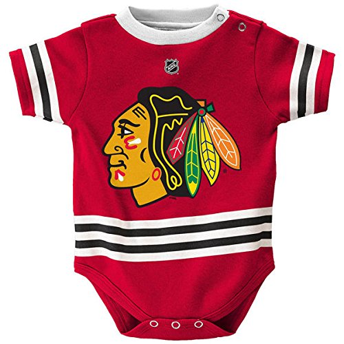 (Outerstuff Chicago Blackhawks Baby/Infant Hockey Jersey Style Creeper 24 Months )