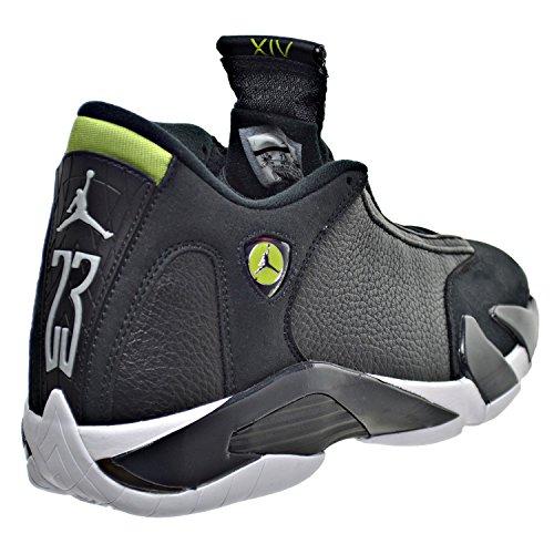 d9317cdc271 Air Jordan 14 Retro Men's Shoes Black/White/Vivid Green 487471-005 ...