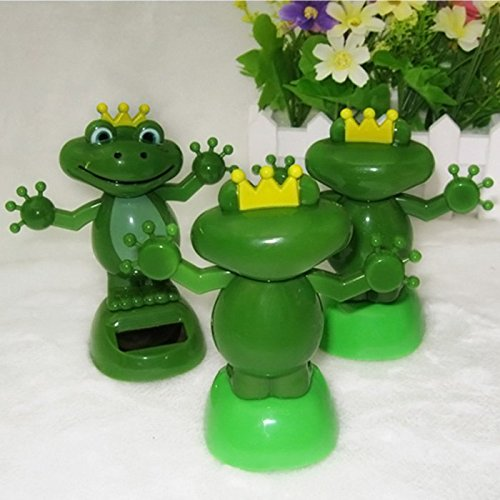 Top of top store Frog Figure Solar Swing Ornamentation Green Energy Decor Sun Solar Powered Shaking Dancing Car Toy for Family