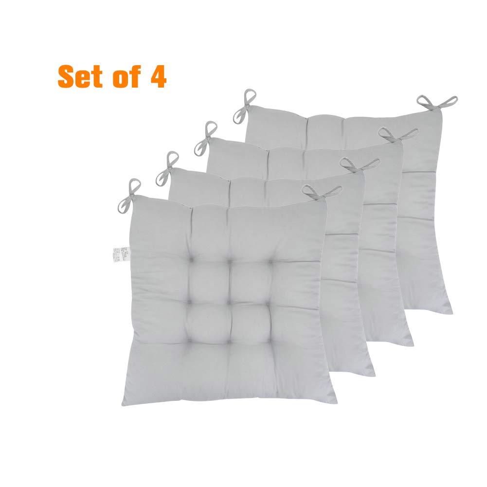 Amazon.com: ELFJOY - Juego de 4 cojines para asiento de ...