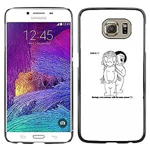 EJOY---Cubierta de la caja de protección la piel dura para el / Samsung Galaxy S6 / --Amor Comedia