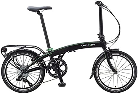 Dahon Qix D8-Bicicleta Plegable, Color Negro Mate, 8 V: Amazon ...