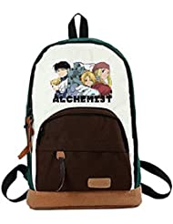 YOYOSHome® Fullmetal Alchemist Anime Edward Elric Cartoon Backpack School Shoulder Bag