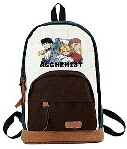 YOYOSHome® Fullmetal Alchemist Anime Edward Elric Cartoon Backpack School Shoulder Bag