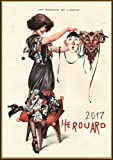 "Wall Calendar 2017 [12 pages 8""x11""] Cheri Herouard La Vie Parisien Cover French Art Deco Vintage Girl"