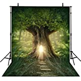 5x7ft magic woodland Green enchanted Forest Fairy Tale photography studio background High-grade portrait cloth Computer printed royal princess birthday baby shower backdrop DD-CM-6749