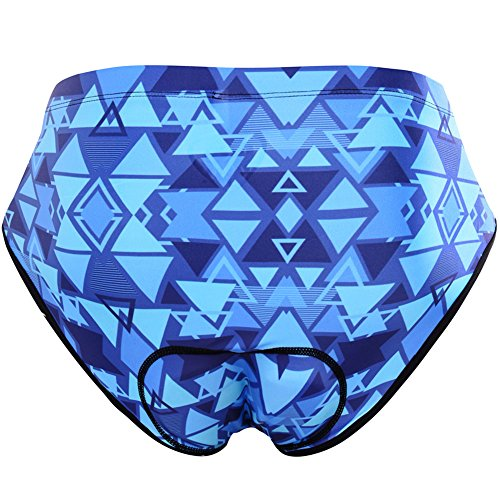 NOOYME (Black Friday Sale) Women Bike Underwear Gel 3D Padded Printed Design Bicycle Briefs Cycling Underwear Shorts
