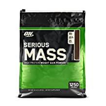 OPTIMUM NUTRITION Serious Mass, Chocolate (No Sugar Added) 12 lbs.