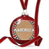 Christmas Decoration America Fourth of July Vintage Poster Design Ornament
