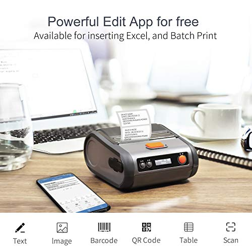 JINGCHEN Portable B3 Thermal Label Printer, Android & iOS, Glasses, Jewelry, Bracelets, Antiques, Barcode.(0.98x1.18+1.77in) 100 Labels/roll, 1 roll for Free by JINGCHEN (Image #7)