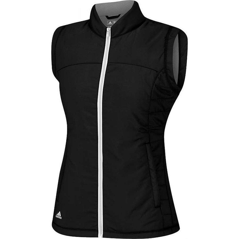 Adidas 2014/15 Women's Full Zip Padded Vest (Black/Lead Heather - L) by adidas