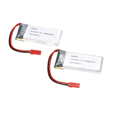 GoolRC 2pcs GoolRC 3.7V 1200mAh 25C JST Plug LiPo Battery for Walkera WKLIPO-5#10 5G4Q3 SYMA S006: Home Audio & Theater [5Bkhe1804007]