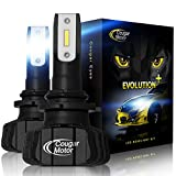 Cougar Motor 9006 Led headlight bulbs, 9600Lm 6500K (HB4) Fanless All-in-One Conversion Kit - 3D Bionic Technology