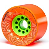 Orangatang Caguama 85 mm 80a Downhill Longboard Skateboard Cruising Wheels w/Loaded Jehu V2 bearings (Orange, Set of 4)