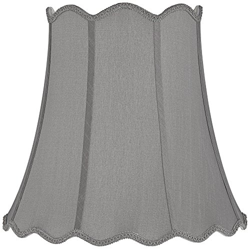 Morell Gray Scallop Bell Lamp Shade 10x16x16 (Spider) (Scallop Bell)