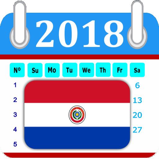 Paraguay 2018 Calendar-Holiday