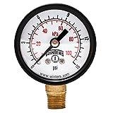 """Winters PEM Series Steel Dual Scale Economy Pressure Gauge, 0-15 psi/kpa, 1-1/2"""" Dial Display, -3-2-3% Accuracy, 1/8"""" NPT Bottom Mount"""