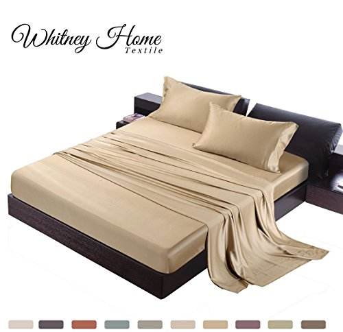 Satin Quality 100% Bamboo-Derived Rayon Bed Sheet Set King S