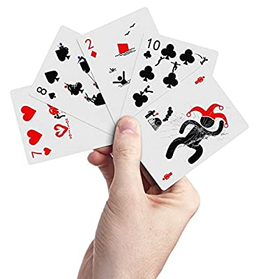 Pipmen Playing Cards – Most Creative & Unique Cards, Standard Poker Card Size & Indices, Stand Out with the Coolest Deck of Cards Ever Made, Quality Second to None, FREE Extra Joker!