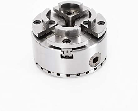 Turning Chuck 4 Jaw Lathe Chuck M33 Thread for Wood Turning Bench Self-Centering