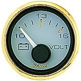 Faria Signature Gold Voltmeter, 10-16 Vdc