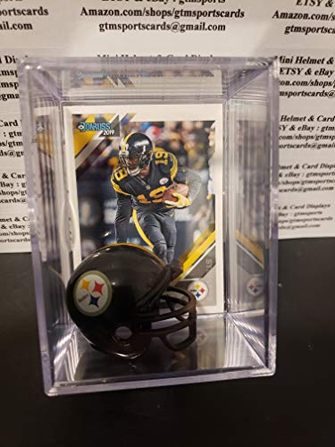 JuJu Smith-Schuster Pittsburgh Steelers Mini Helmet Card Display Collectible Auto Shadowbox Autograph from gtmsportscards